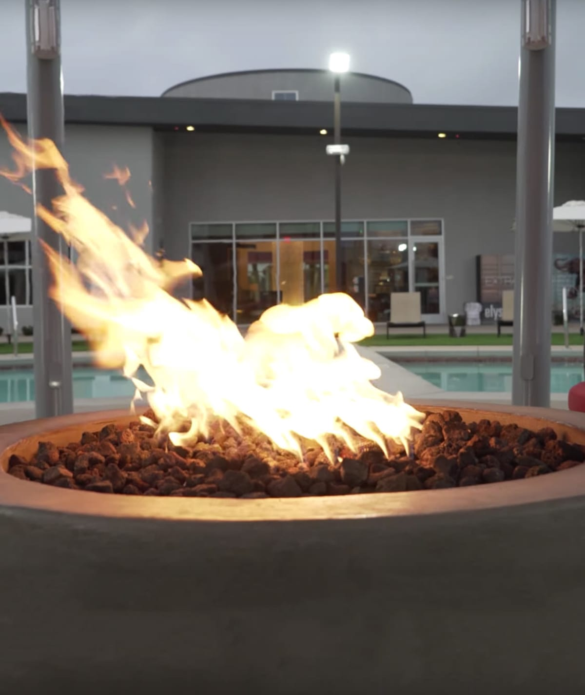 Gas fire pit at Elysian West in Las Vegas