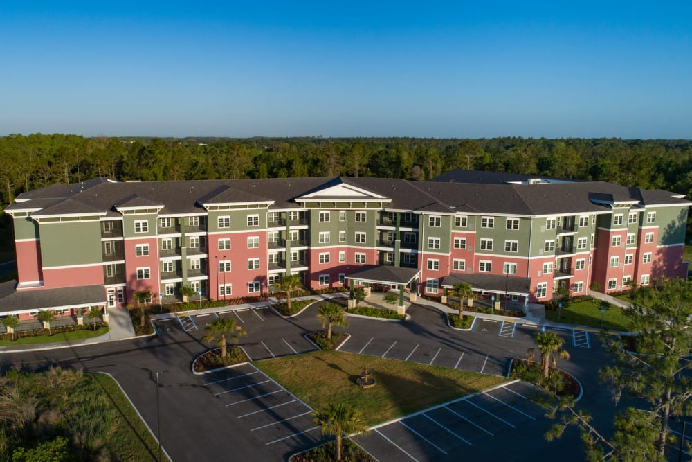 Aerial view of Keystone Place at Terra Bella in Land O' Lakes, Florida