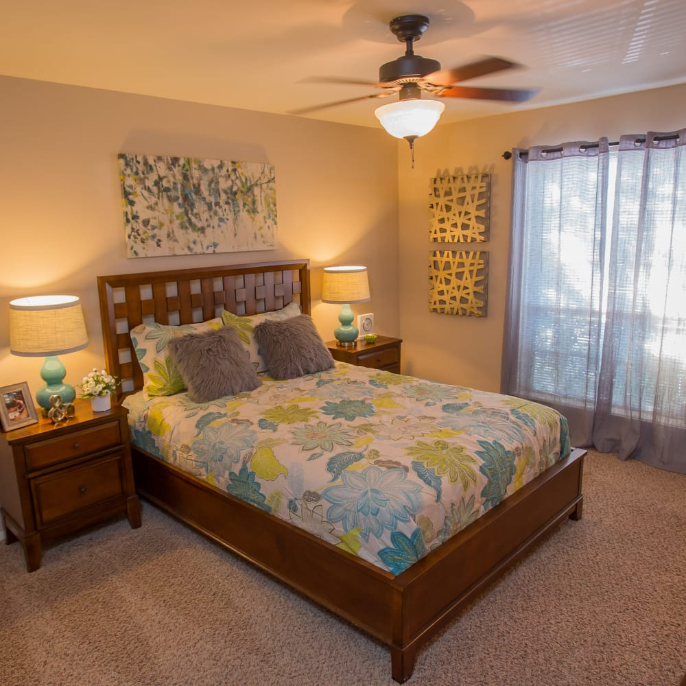 Bedroom at Barcelona Apartments in Tulsa, Oklahoma