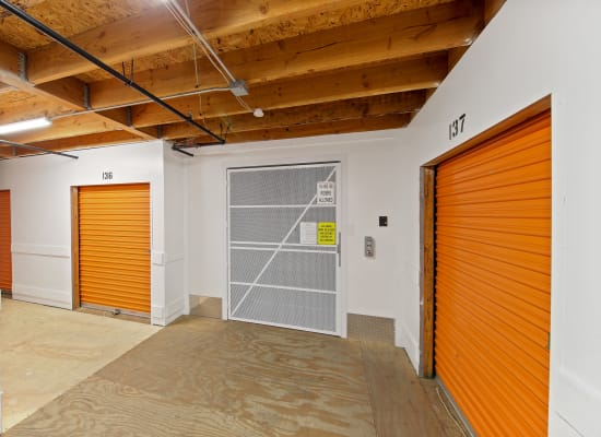 Freight elevator and indoor storage at A-1 Self Storage in La Mesa, California