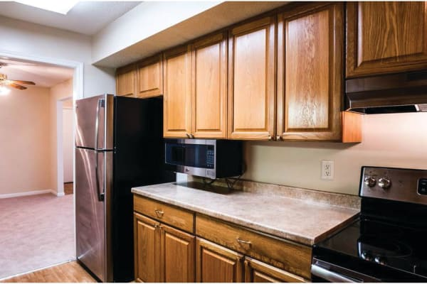 Spacious kitchens at Post Ridge Apartments in Nashville, Tennessee.