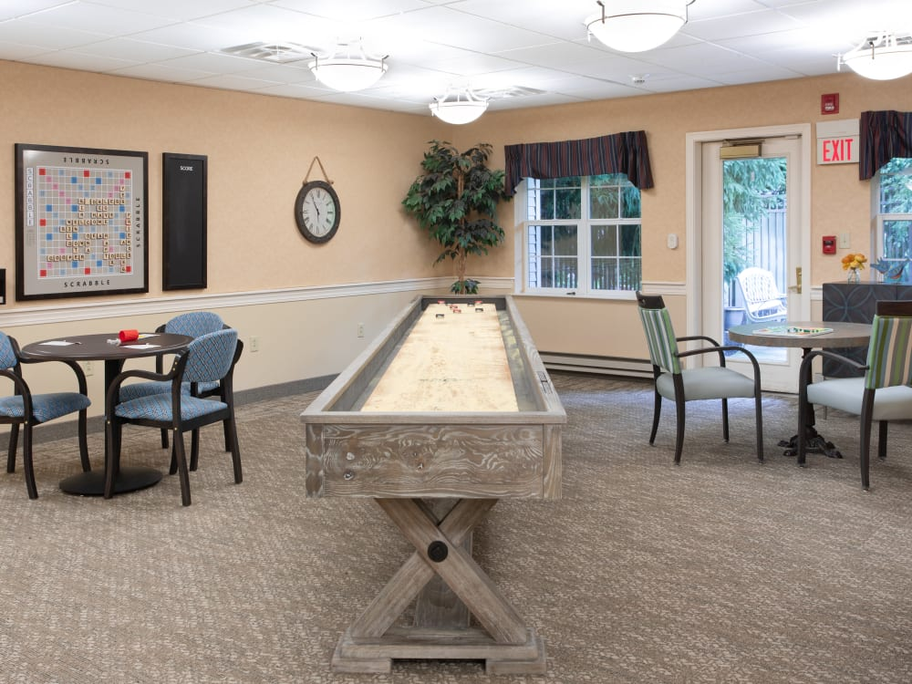 Game room at Governor's Village in Mayfield Village, Ohio