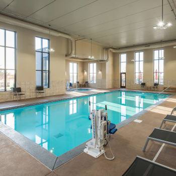 Large swimming pool at Affinity at Ramsey in Ramsey, Minnesota.
