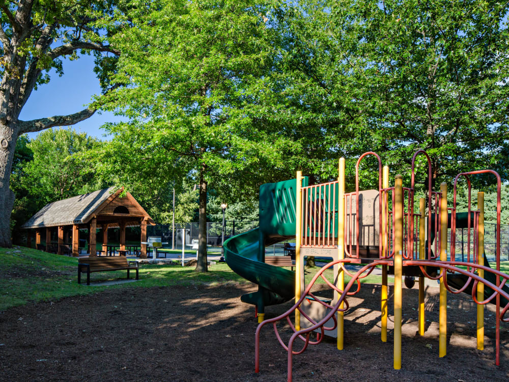 Onsite children's playground at Sofi at 50 Forest in Stamford, Connecticut