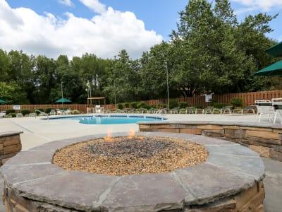 Swimming pool at Riverwind Apartment Homes in Spartanburg, South Carolina