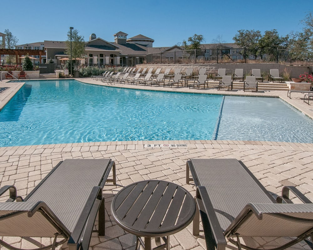 Resort style pool at Wiregrass at Stone Oak in San Antonio, Texas