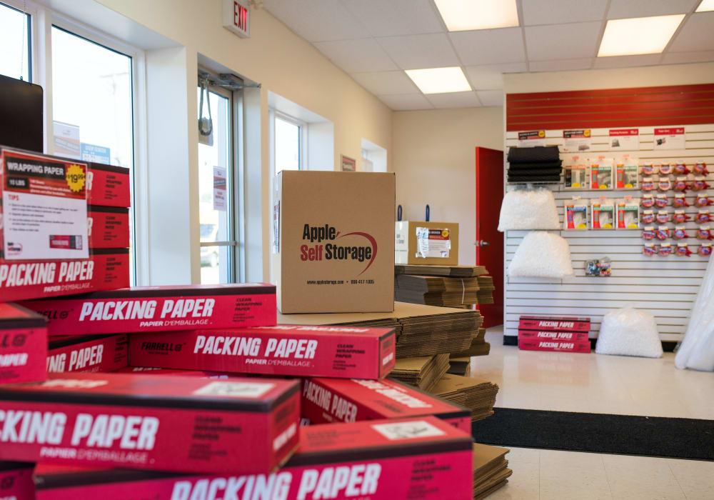 Packing and moving supplies at Apple Self Storage - Saint John West in Saint John, New Brunswick