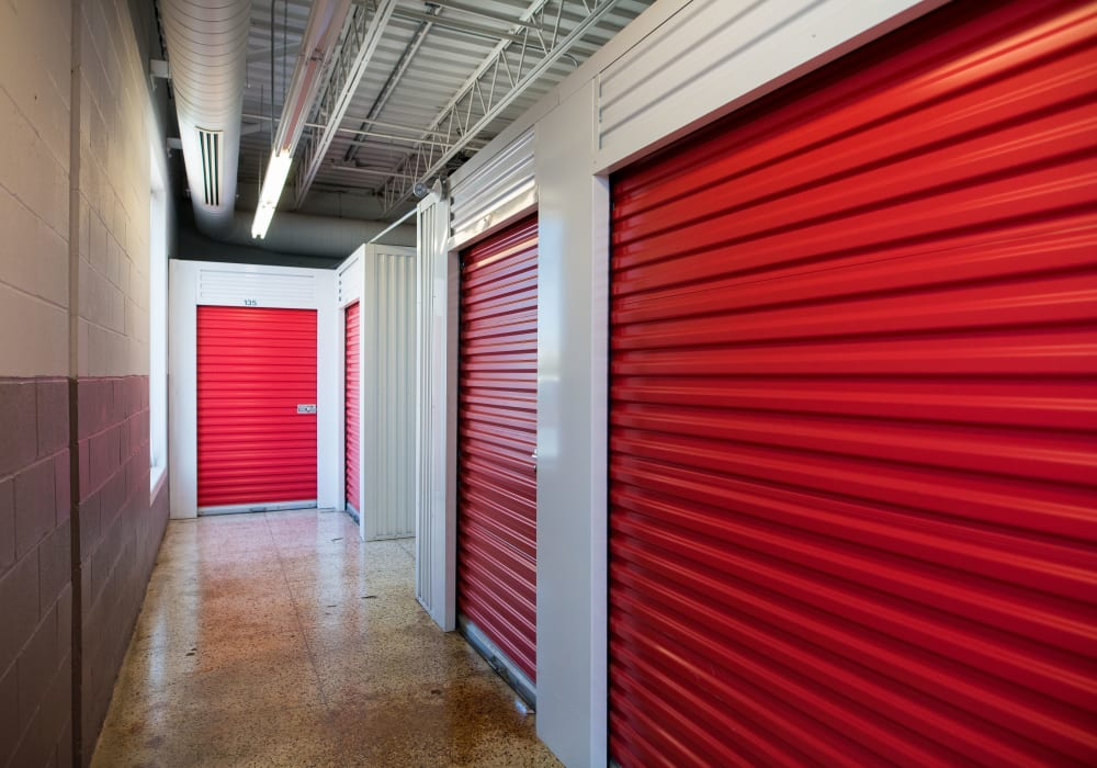 Interior units at Apple Self Storage - Saint John East in Saint John, New Brunswick