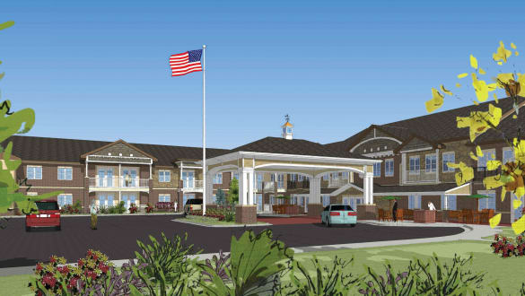 Exterior rendering of Burr Ridge Senior Living in Burr Ridge, IL