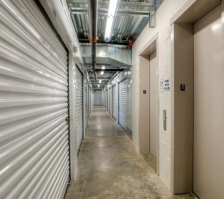 Interior storage hallway of StorQuest Express - Self Service Storage in Woodland