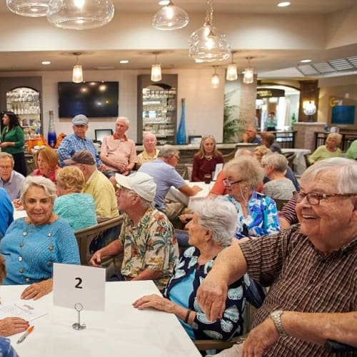 Social gatherings for residents at Celebration Village Acworth in Acworth, Georgia
