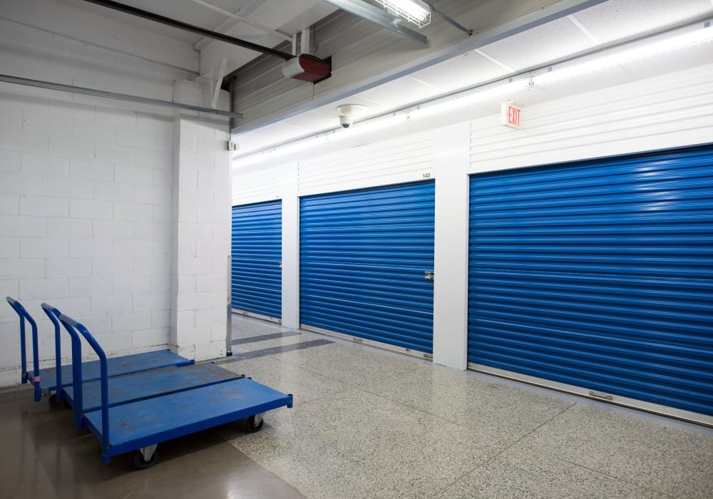 Complimentary use of carts and dollies at Weston Self Storage in Toronto, Ontario