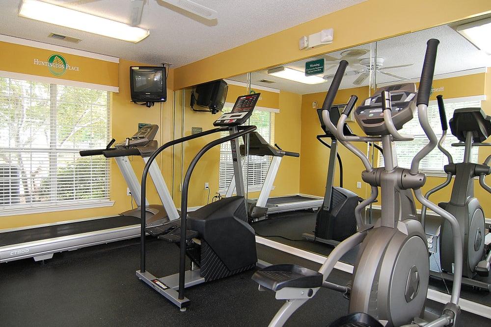 Beautiful fitness center at Huntington Place in Columbia, South Carolina