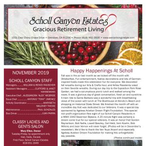 November Scholl Canyon Estates newsletter