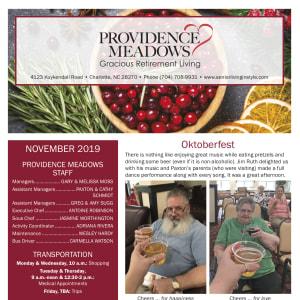 November Providence Meadows Gracious Retirement Living newsletter