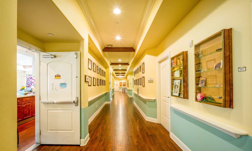 Wide Hallway through Vista Gardens in Vista, California