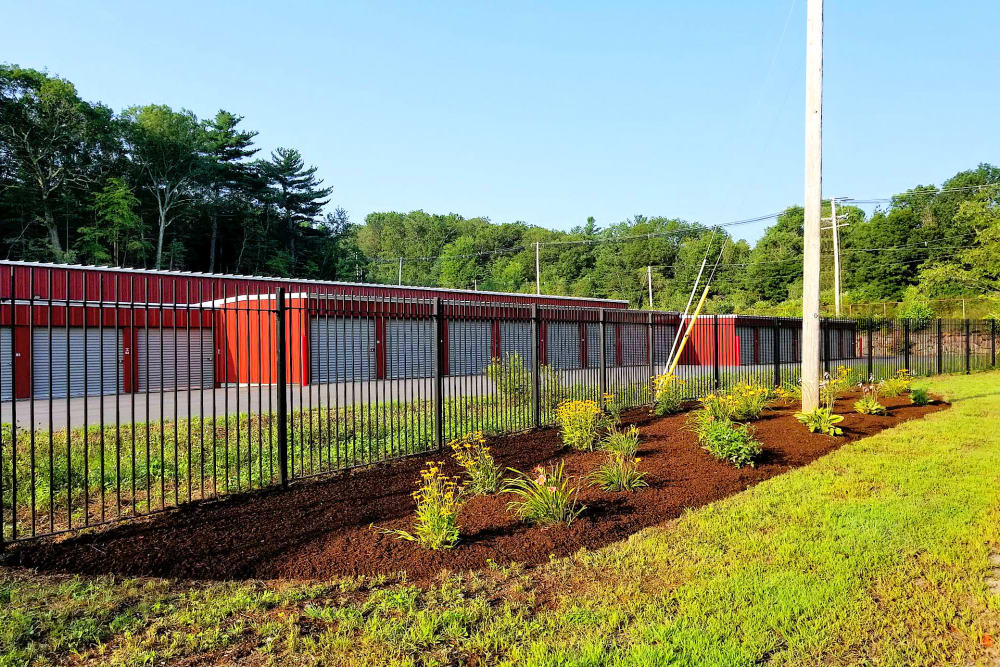 Security fence at Prime Storage in Whitinsville, Massachusetts