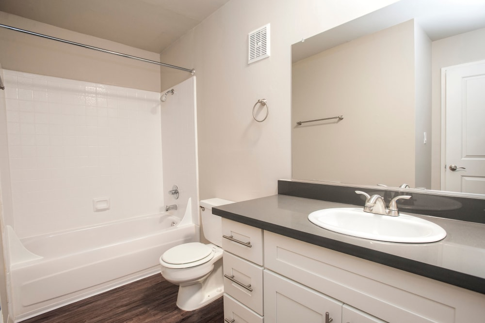 Lovely bathroom at Ballena Village Apartment Homes in Alameda, California
