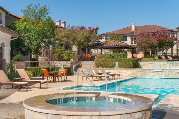 Beautiful swimming pool at Mira Vista at La Cantera in San Antonio, Texas
