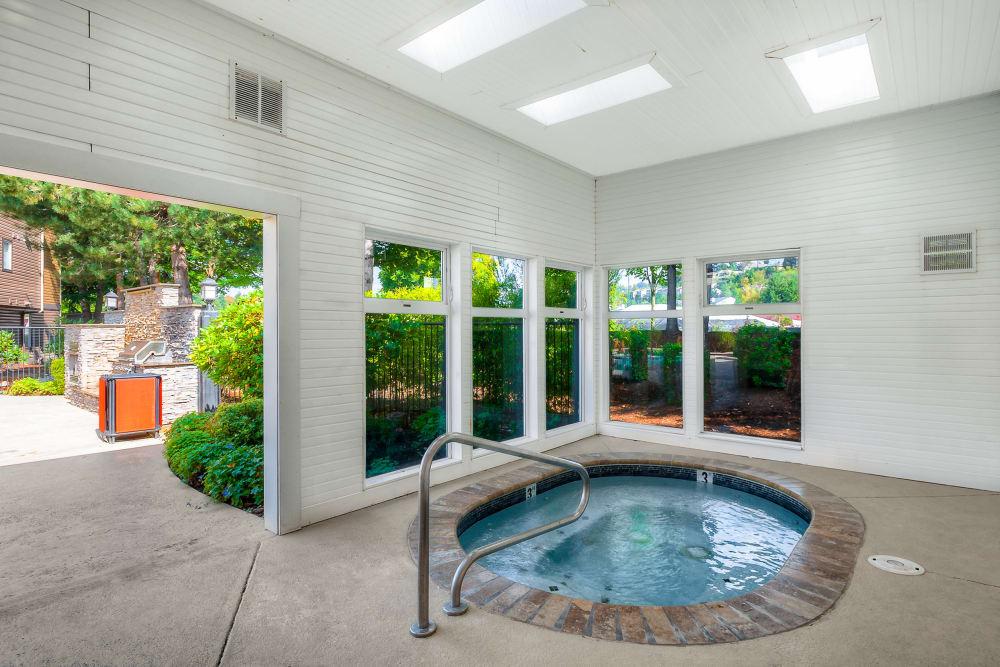 Indoor hot tub at Newport Crossing Apartments in Newcastle, Washington