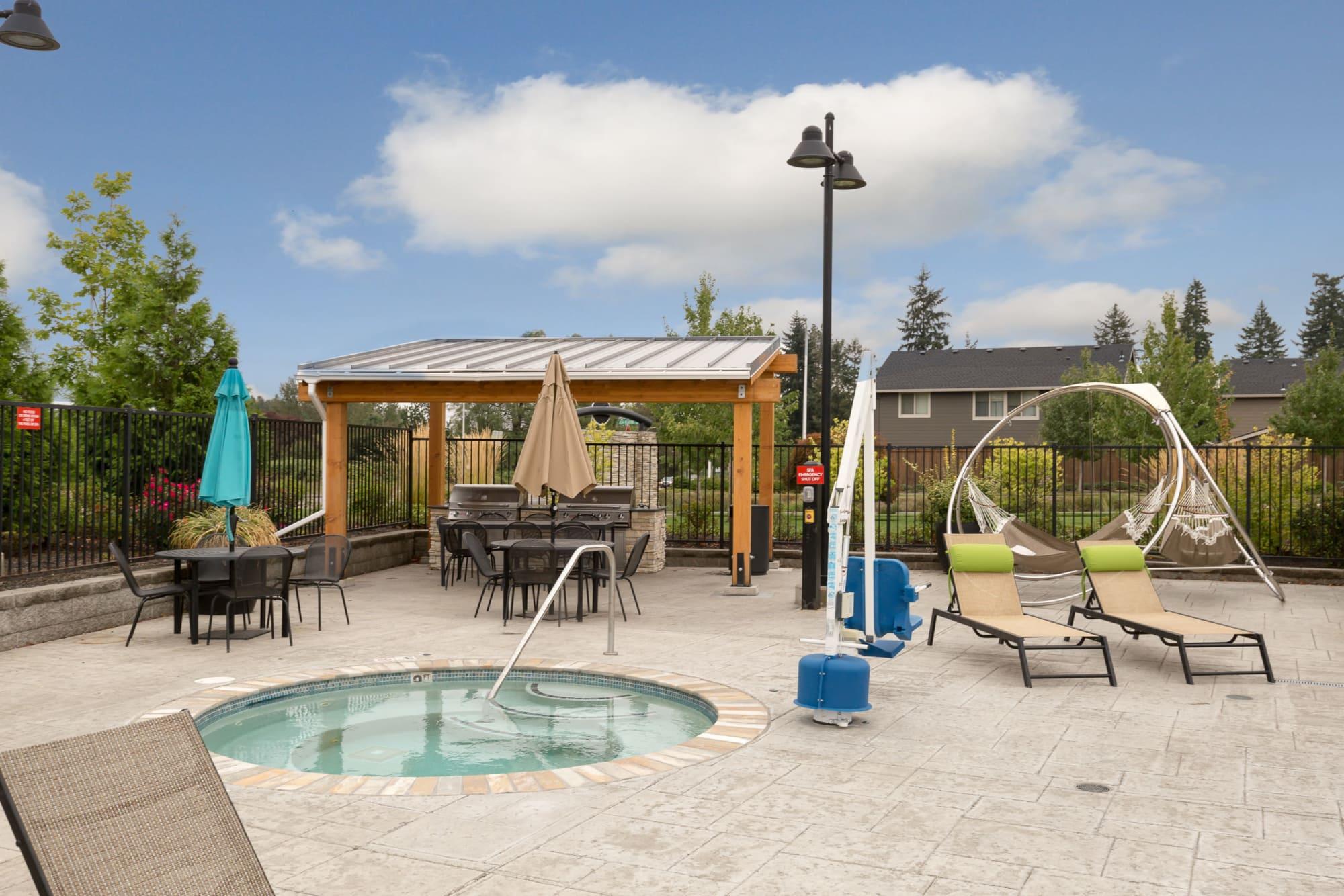 Spa and Lounge Area Near Pool