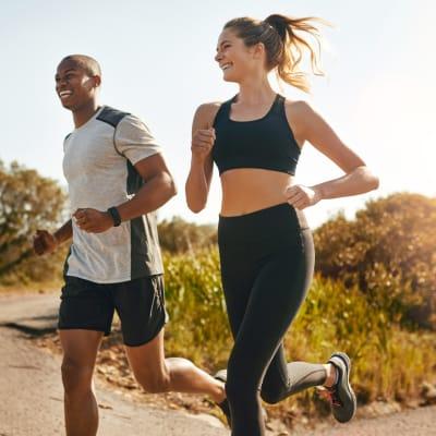 Residents jogging near Marq Midtown 205 in Charlotte, North Carolina