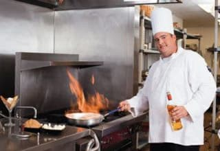 Professional chefs prepare meals for seniors at Discovery Commons senior living communities