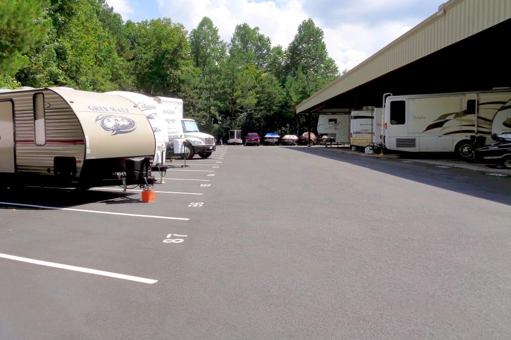 RV parking at Prime Storage in Dallas, Georgia