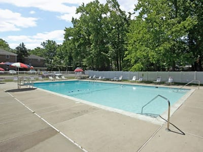 Enjoy apartments with a spacious swimming pool at Duncan Hill Apartments & Townhomes