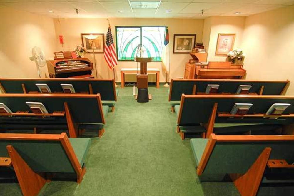 The Chapel at River Commons Senior Living in Redding, California