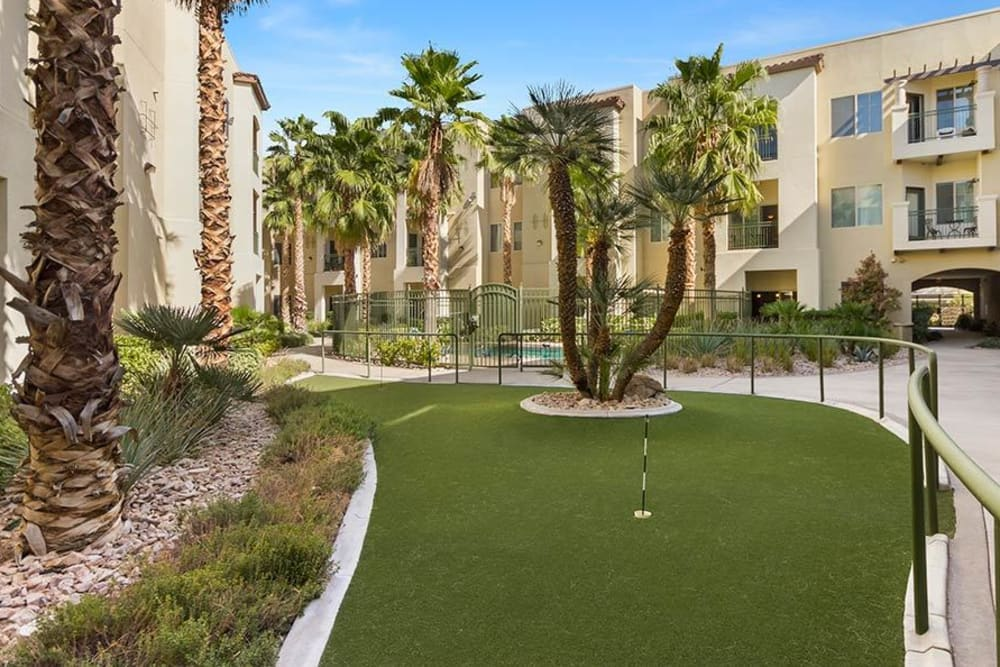 Golf course at Merrill Gardens at Green Valley Ranch in Henderson, Nevada.