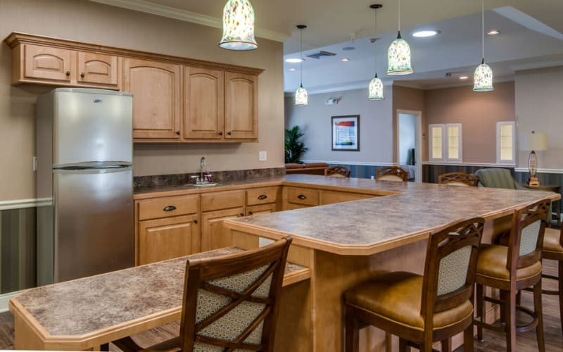 Accessible kitchen for residents at Adams Pointe Senior Living in Quincy, Illinois