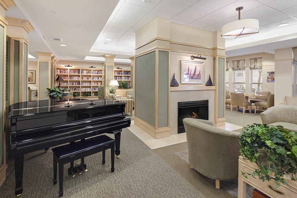 A piano at Merrill Gardens at Willow Glen in San Jose, California.