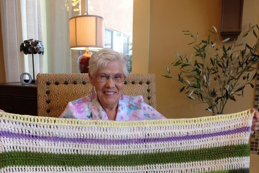 Resident proud of her craft at The Oaks, A Merrill Gardens Community in Gilbert, Arizona