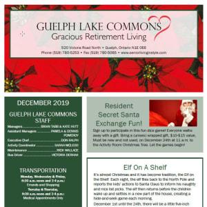 December Guelph Lake Commons newsletter