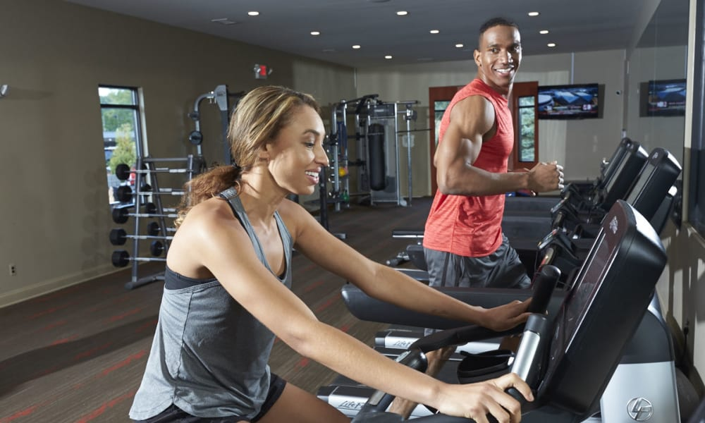 Get healthy at The Trilogy Apartments fitness center