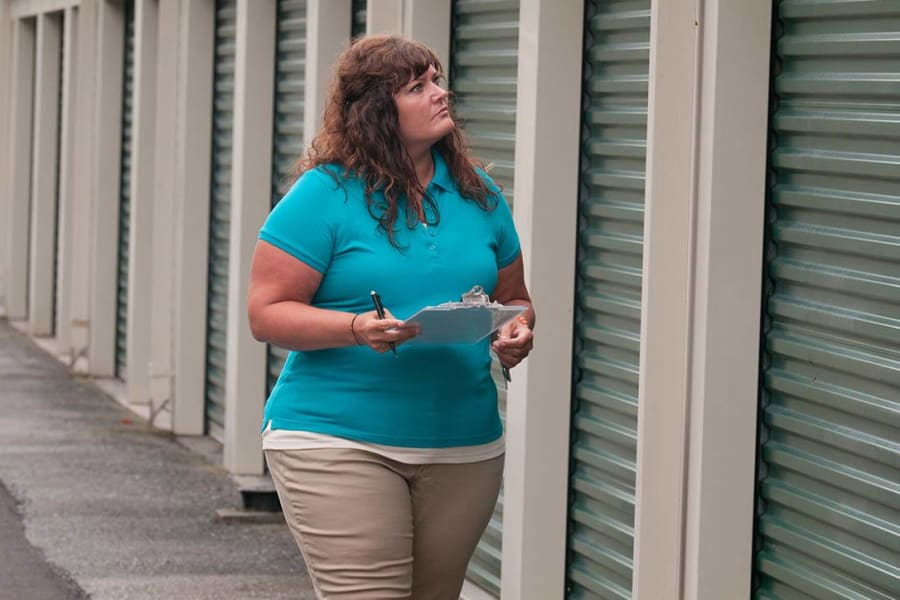 Manager makes daily inspections at Virginia Varsity Storage in Christiansburg, Virginia