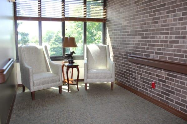 A sun-filled sitting area at Ebenezer Ridges Campus in Burnsville, Minnesota