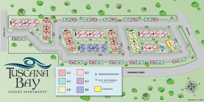 Site map for Tuscana Bay Apartments in Corpus Christi, Texas