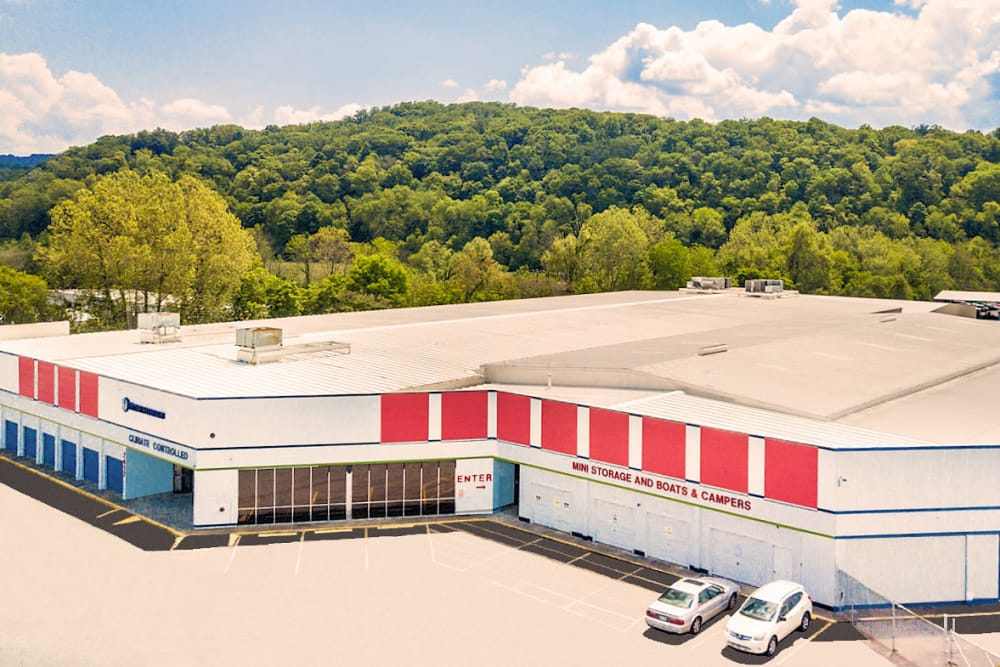 Aerial view of Prime Storage in Kingsport, Tennessee