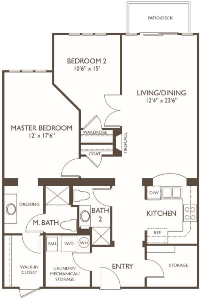 Independent Living two bedroom II at Hillcrest of Loveland in Loveland, Colorado