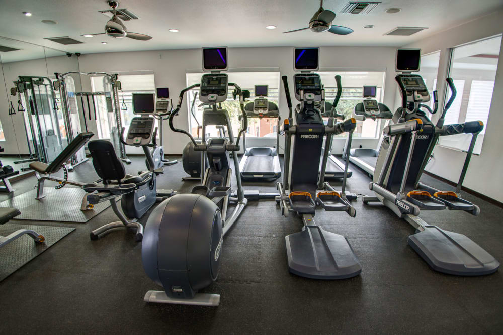 Luxury fitness center at Sage Luxury Apartment Homes in Phoenix, Arizona