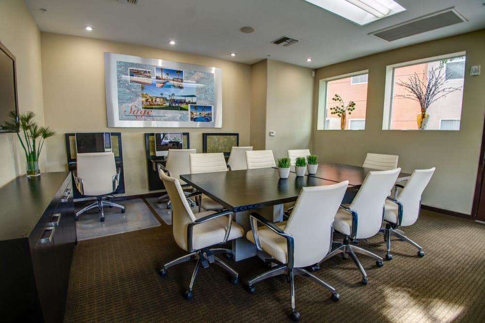 Conference room at Sage Luxury Apartment Homes in Phoenix, Arizona
