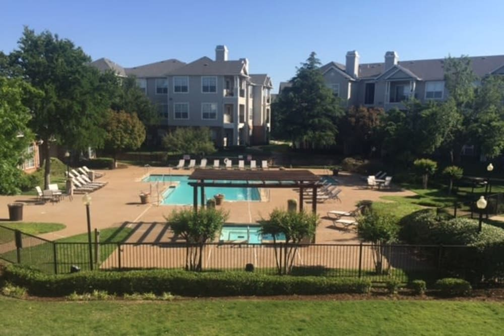Enjoy the hot tub and pool at Prairie Springs in Oklahoma City