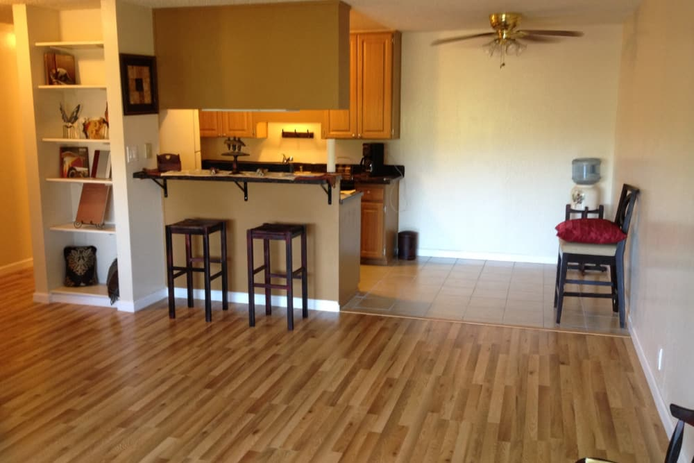 Parkview offers a spacious living area in our Concord, California renovated apartments