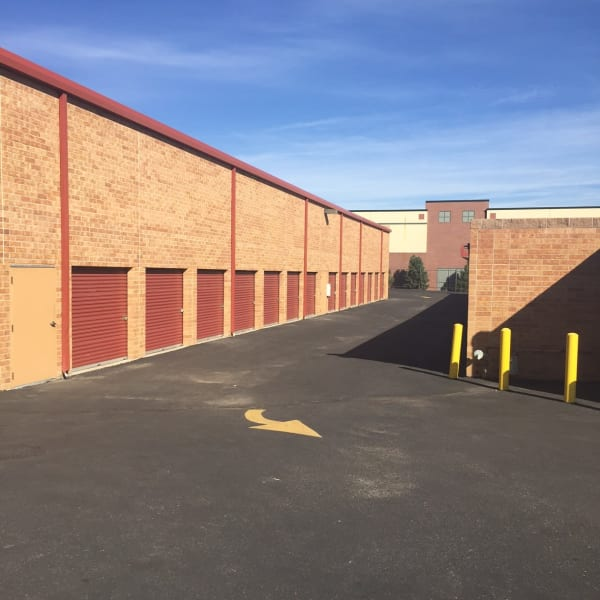Outdoor storage units at StorQuest Self Storage in Highlands Ranch, Colorado