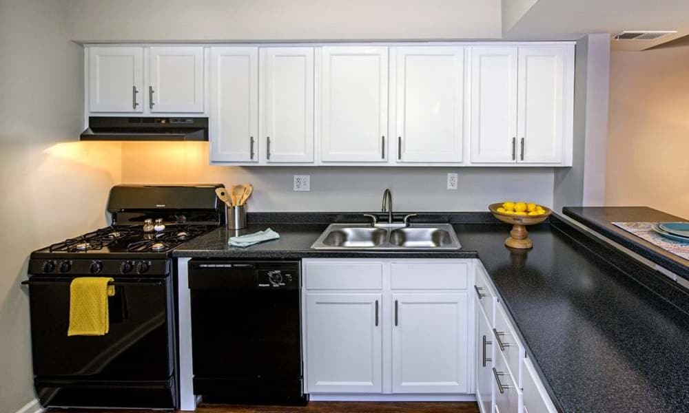Upgraded kitchen at Nineteen North Apartments in Pittsburgh