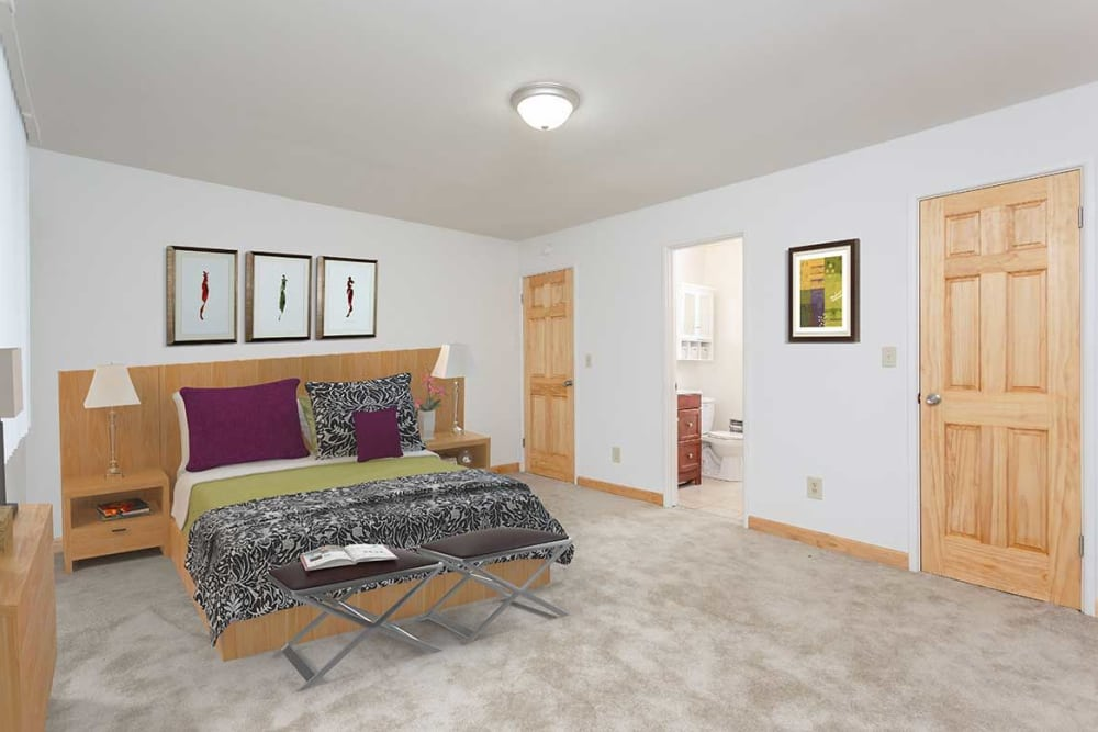 Inviting bedroom at Meadowbrook Apartments
