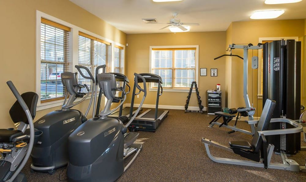 Fitness center at North Ponds Apartments in Webster, NY