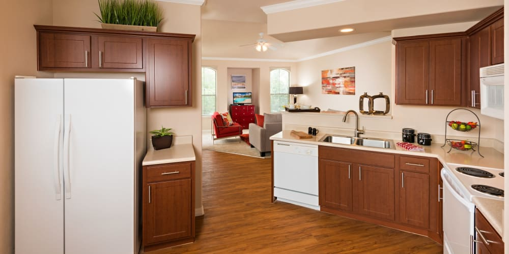 A bright, open kitchen at Villas on Hampton Avenue in Mesa, Arizona